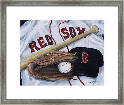 Red Sox Number Six Framed Print by Jack Skinner