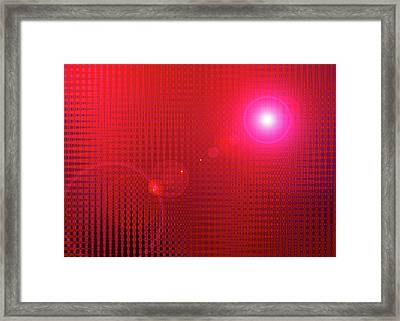 Red Space Framed Print by Ramon Labusch