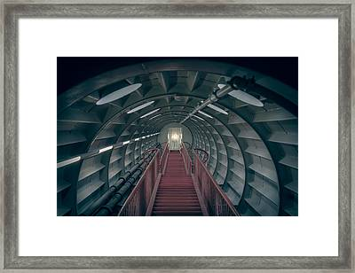 Red Stairs Framed Print by Chris Fletcher