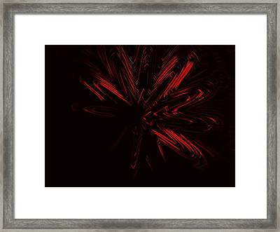 Red Star Framed Print by Contemporary Art