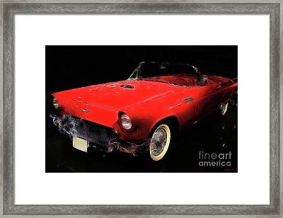 Red Thunder Framed Print by Wingsdomain Art and Photography