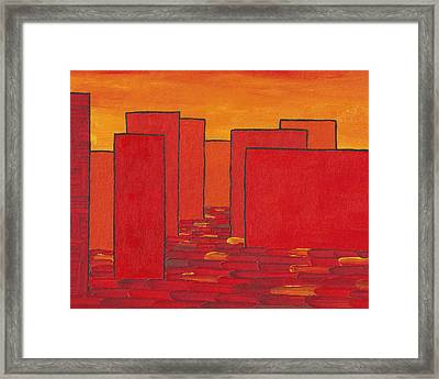 Red Town P2 Framed Print by Manuel Sueess