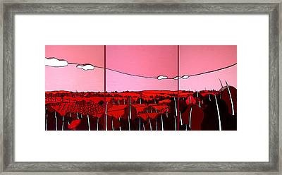 Red Tuscan Longview Framed Print by Jason Charles Allen