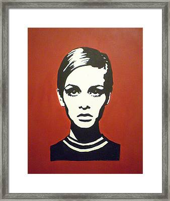 Red Twiggy Framed Print by Ruth Oosterman