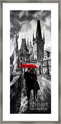 Red Umbrella Framed Print by Yuriy  Shevchuk
