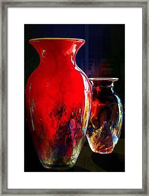 Red Vase Framed Print by Paul Wear