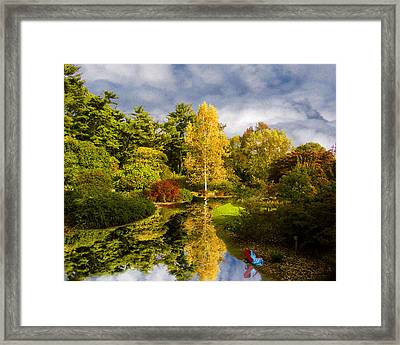 Red Wagon Framed Print by Tom Romeo