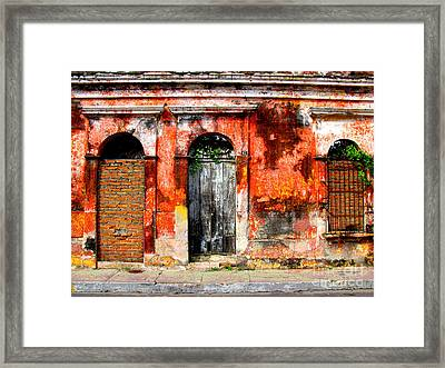Red Wall By Darian Day Framed Print by Mexicolors Art Photography