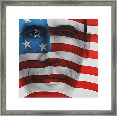 Red White And Blue Framed Print by Gary Kaemmer