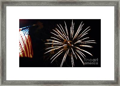 Red White And Blue Framed Print by Gina Sullivan