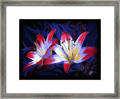 Red White And Blue Framed Print by Jim  Darnall