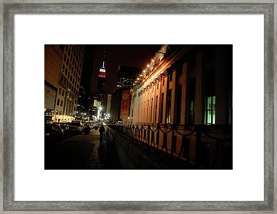 Red White And Blue Framed Print by Robert DeMarco