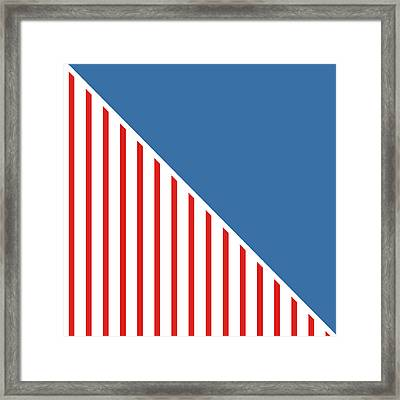 Red White And Blue Triangles Framed Print by Linda Woods