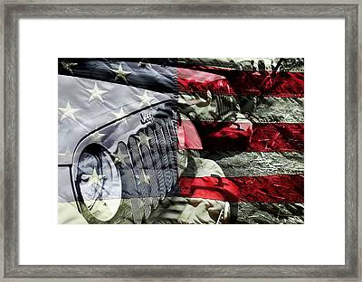 Red White And Jeep Framed Print by Luke Moore