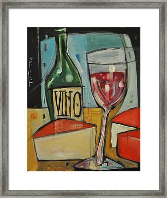 Red Wine And Cheese Framed Print by Tim Nyberg