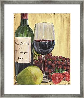 Red Wine And Pear 2 Framed Print by Debbie DeWitt
