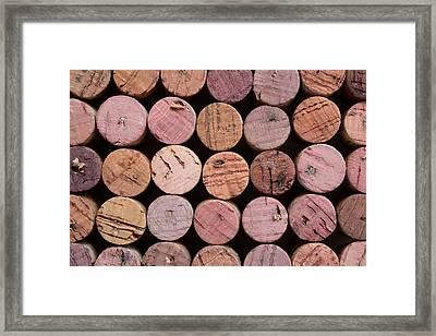 Red Wine Corks 135 Framed Print by Frank Tschakert