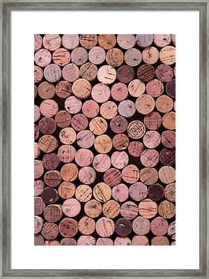 Red Wine Corks 169 Framed Print by Frank Tschakert