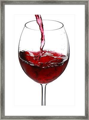 Red Wine Framed Print by Jaroslaw Grudzinski