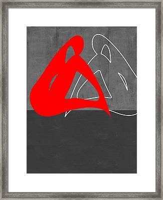 Red Woman Framed Print by Naxart Studio