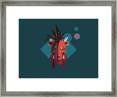 Red Xiii Framed Print by Michael Myers