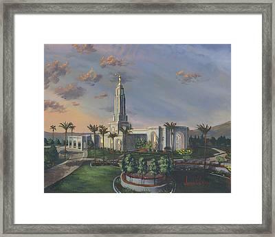 Redlands Temple Framed Print by Jeff Brimley