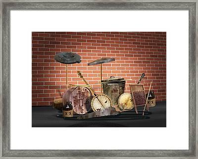 Redneck Rock Band Framed Print by Gravityx9  Designs