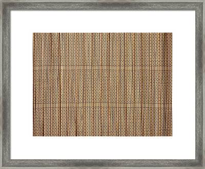 Reed Lining Texture Framed Print by Miroslav Nemecek