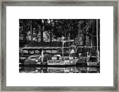 Reel Time In Bw Framed Print by Patricia Stalter