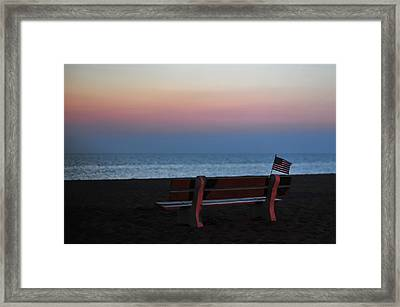 Reflect, Remember, Honor And Be Thankful Framed Print by Terry DeLuco