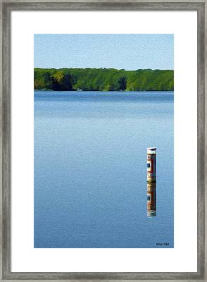 Reflected Warning Framed Print by Jeff Kolker