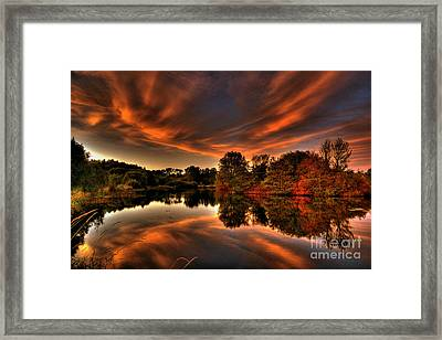 Reflecting Autumn Framed Print by Kim Shatwell-Irishphotographer
