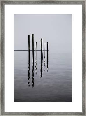 Reflecting Poles Framed Print by Karol Livote