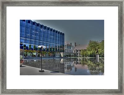 Reflecting Pond U Of C Law School Framed Print by David Bearden