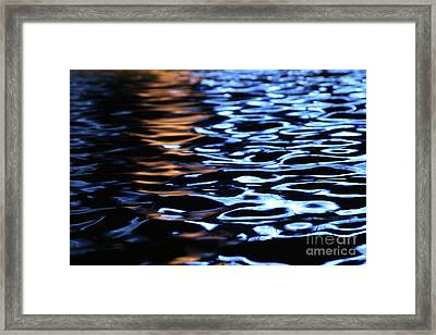 Reflection In Fountain Framed Print by Karol Livote