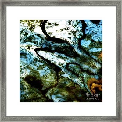 Reflection In Water Framed Print by Bernard Jaubert