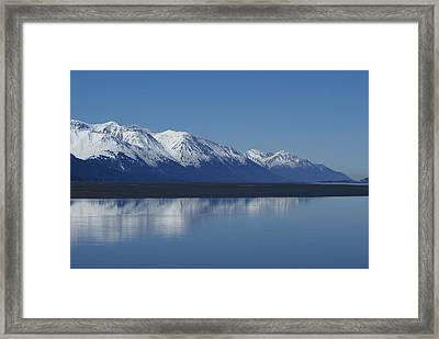 Reflection Mountains Framed Print by Robert Reasner