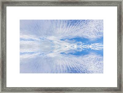 Reflection Of Clouds Framed Print by Unknow