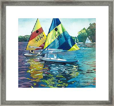Reflections After The Race Framed Print by LeAnne Sowa