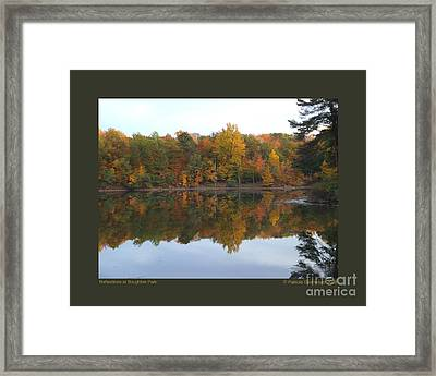 Reflections At Boughton Park Framed Print by Patricia Overmoyer