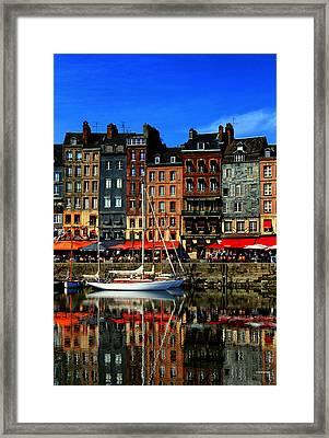 Reflections Honfleur France Framed Print by Tom Prendergast