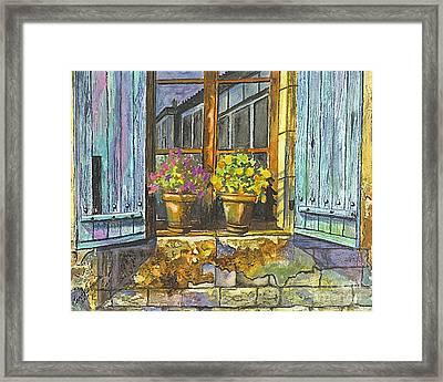 Reflections In A Window Framed Print by Carol Wisniewski