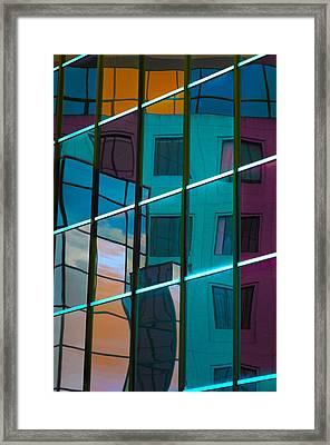 Reflections In Colour Framed Print by Elisabeth Van Eyken