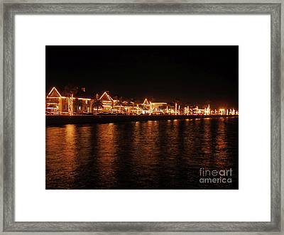 Reflections In The Bay Framed Print by D Hackett