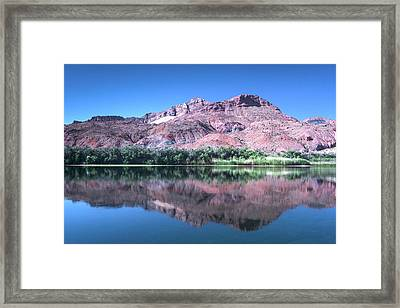 Reflections In The Desert Framed Print by Johanna Raupe