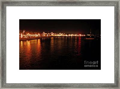 Reflections Night Of Lights Framed Print by D Hackett