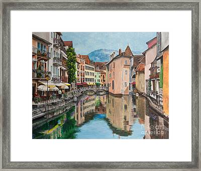 Reflections Of Annecy Framed Print by Charlotte Blanchard
