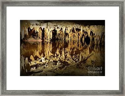 Reflections Of Dream Lake At Luray Caverns Framed Print by Paul Ward