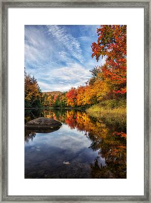 Reflections Of Fall Framed Print by Mark Papke