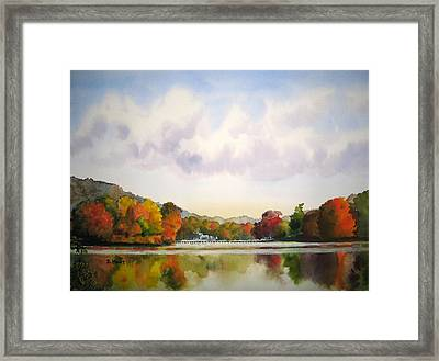 Reflections Of Fall Framed Print by Shirley Braithwaite Hunt